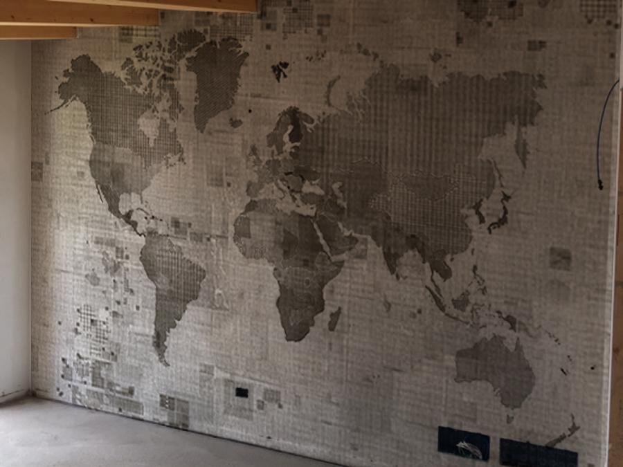 Foto parete arredativa con carta da parati di biffi for Carta da parati per pavimenti