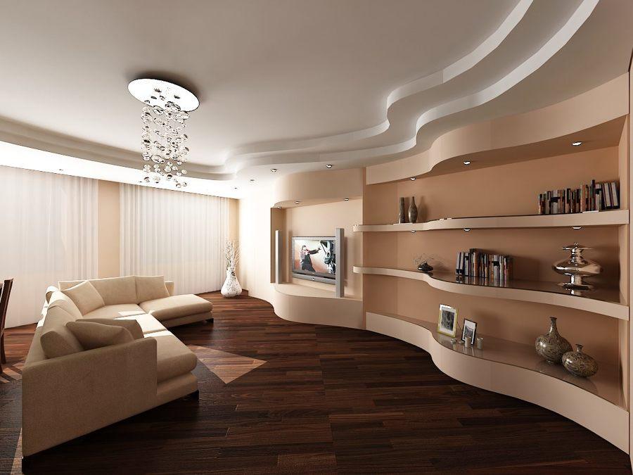 Foto parete attrezzata curva in salotto di pittore edile for Parete attrezzata angolare