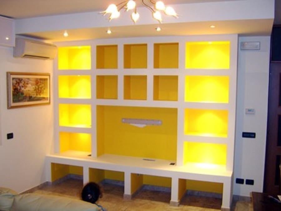 Fabulous parete attrezzata in cartongesso with parete attrezzata cartongesso - Parete attrezzata in cartongesso costo ...