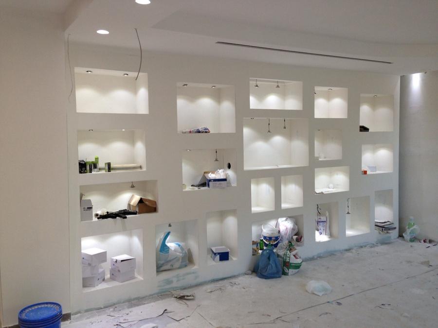 Progetto controsoffitti pareti attrezzate contropareti e for Immagini parete attrezzata