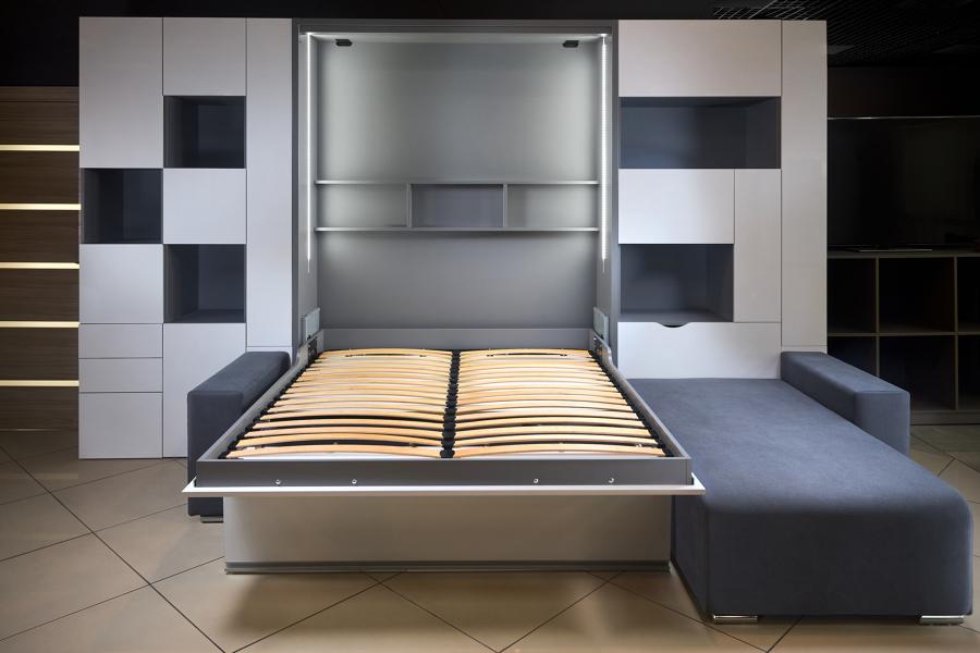 parete con letto a scomparsa