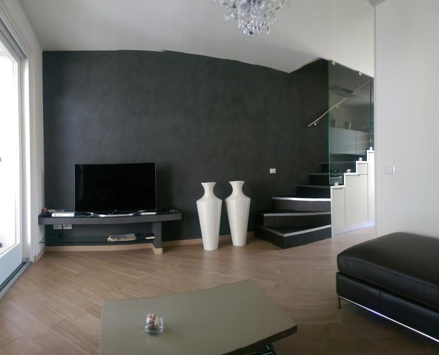 Simple decorazione parete con glitter pareti bianche - Parete giallo ocra ...