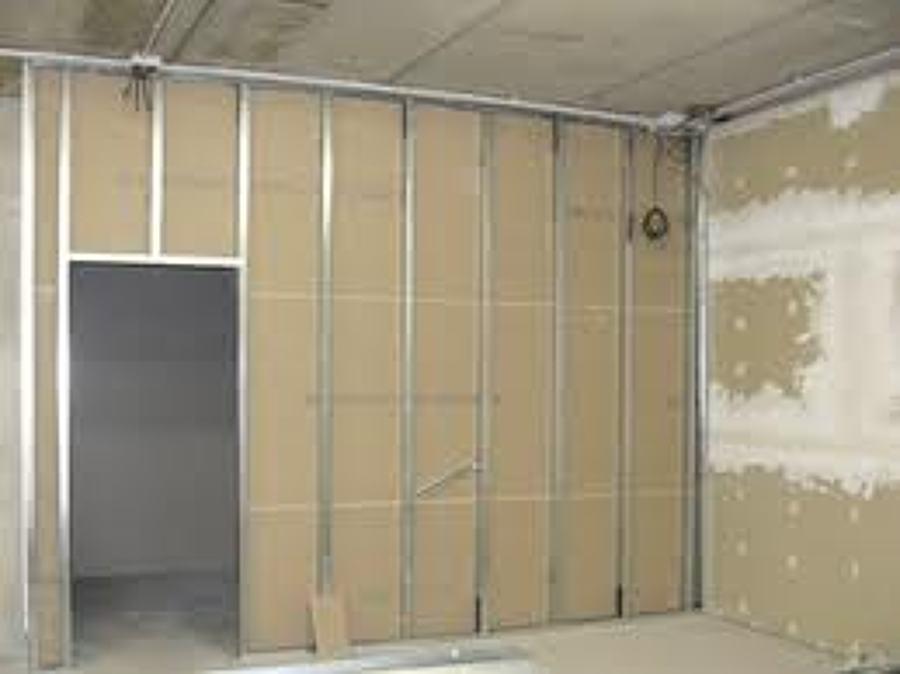 Parete In Cartongesso Montaggio : Progetto parete in cartongesso e verniciatura ringhiere