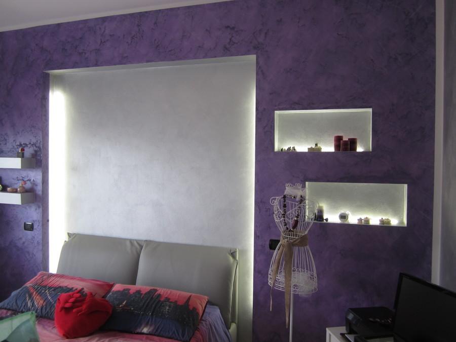 Progetto realizzazione parete decorativa idee cartongesso - Camera da letto cartongesso ...