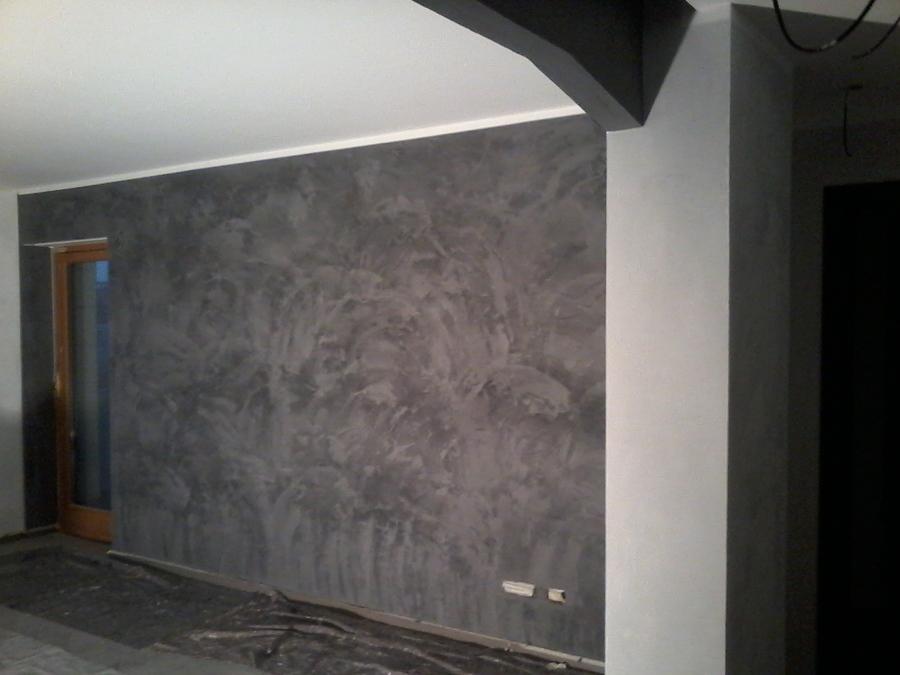 terminata - controsoffitto sospeso- Pareti stucco veneziano grigio ...