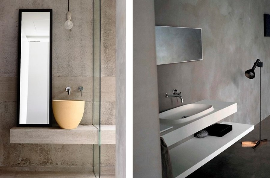 Foto pareti in cemento nel bagno di valeria del treste - Banos cemento pulido ...