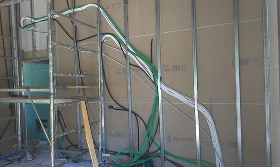 Parte degli impianti elettrici e condizionamento