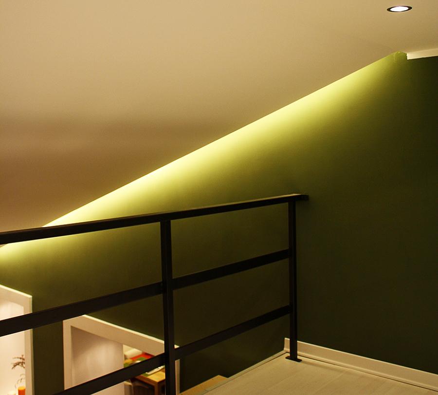 Particolare illuminazione soggiorno
