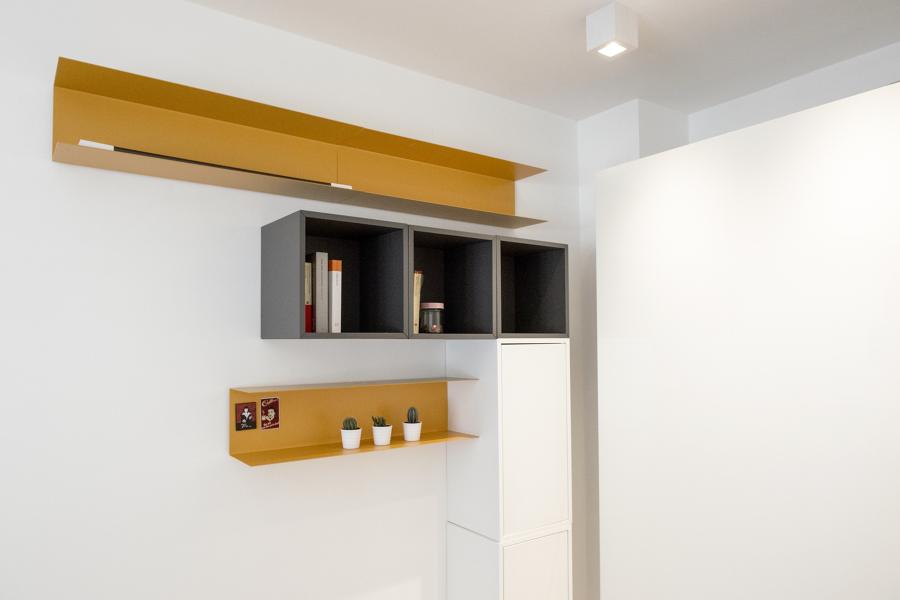 Ristrutturazione appartamento via appia roma idee ristrutturazione casa - Libreria camera da letto ...