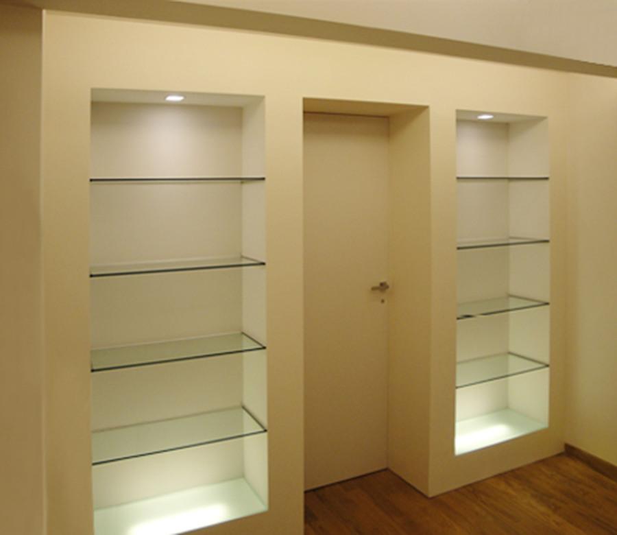 Foto particolare parete libreria camera da letto di - Camere da letto in cartongesso ...