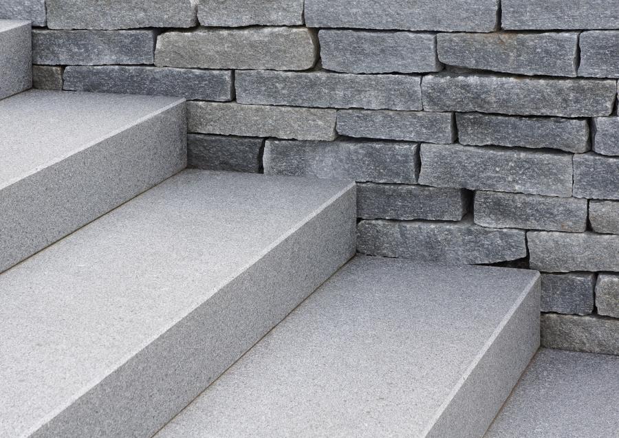 particolare scale giardino terrazzato