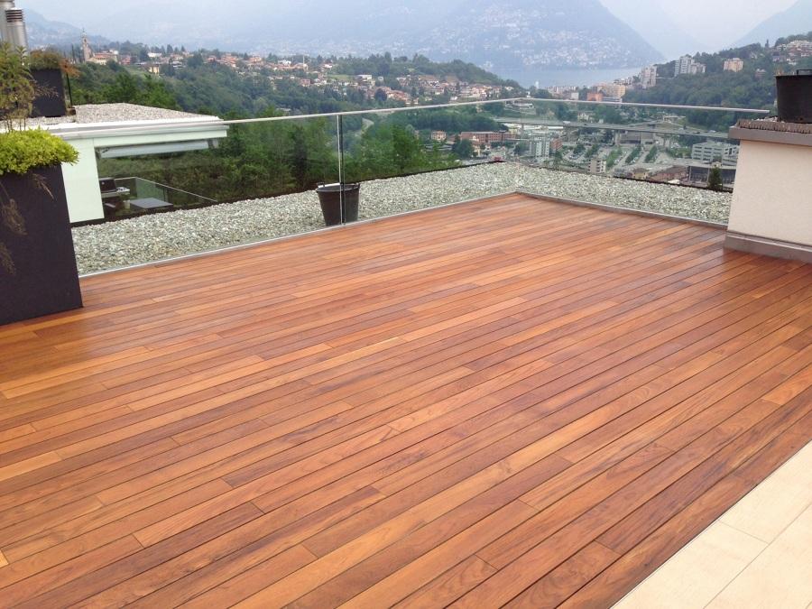 Progetto terrazzo in teak idee parquettisti - Legno per terrazzo ...