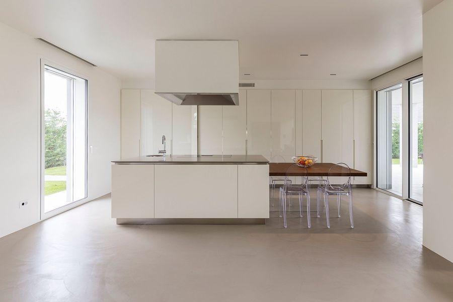 pavimento cucina cemento resina