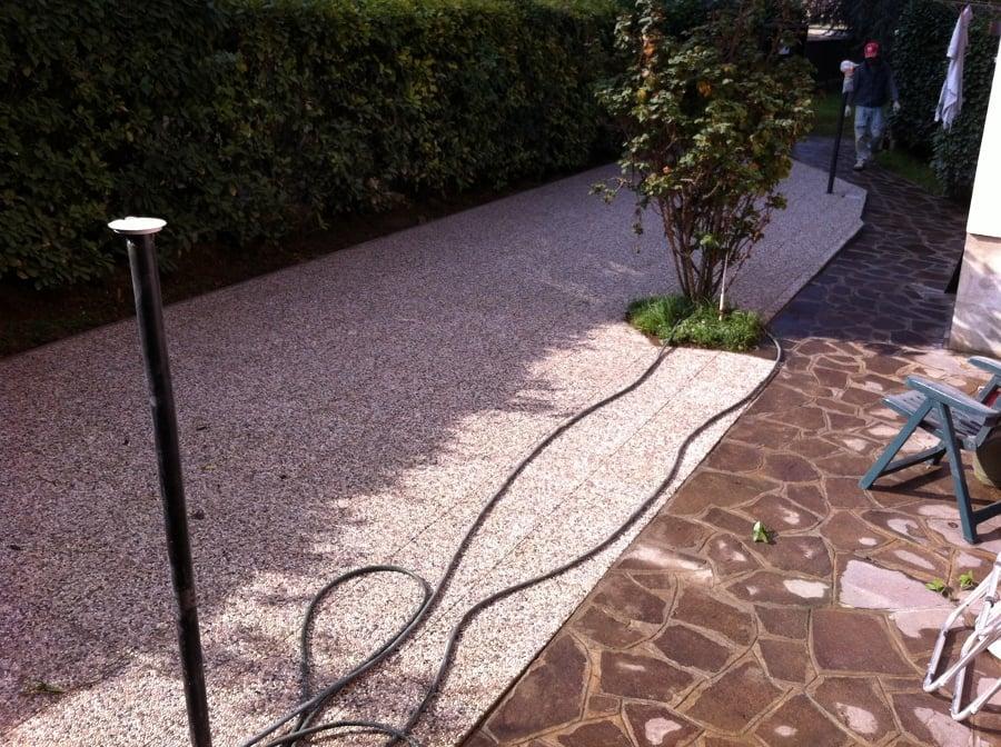 Progetto per pavimentazione giardino idee muratori - Pavimentazione giardino senza cemento ...