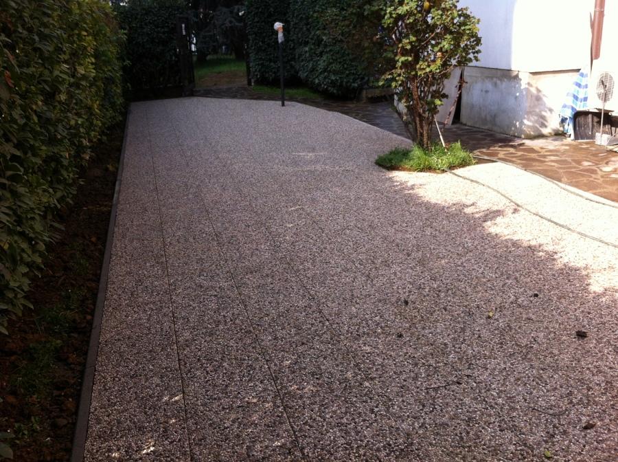 Progetto per pavimentazione giardino idee muratori - Pavimento per giardino ...