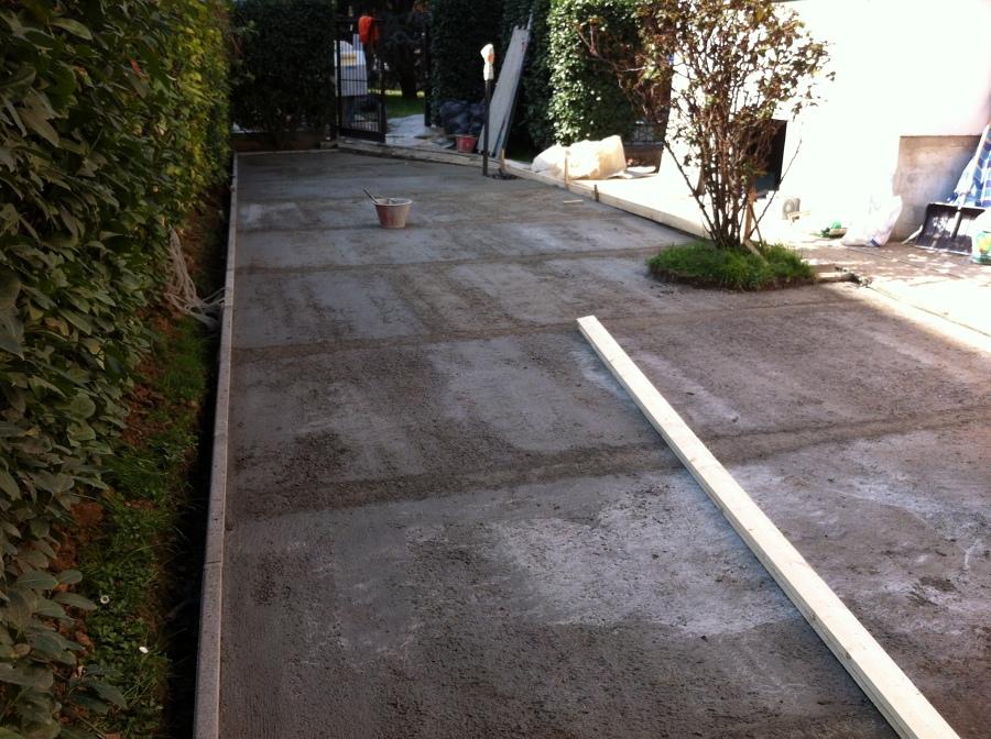 Progetto per pavimentazione giardino idee muratori for Pavimento da giardino
