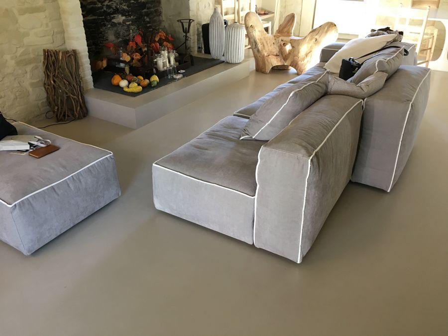 pavimento in cemento resina