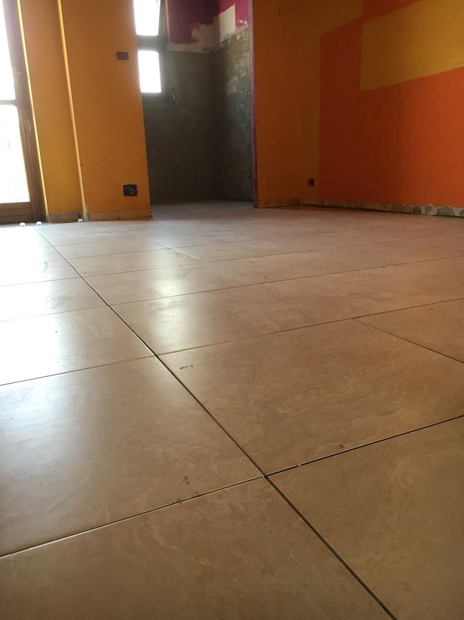 Pavimento prima della stuccatura
