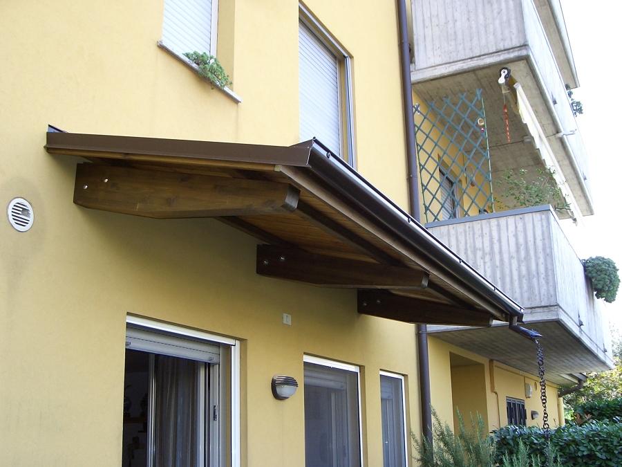 Progetto installazione pensiline in legno o alluminio for Immagini di tettoie in legno