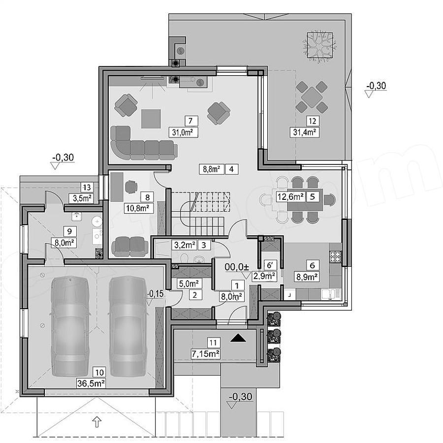 Casa marianna idee costruzione case prefabbricate for Idee piano terra