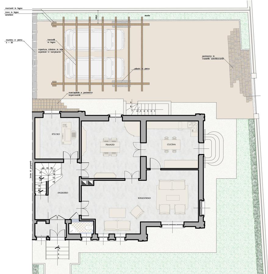 Ristrutturazione di porzione di bifamiliare idee architetti for Idee piano terra
