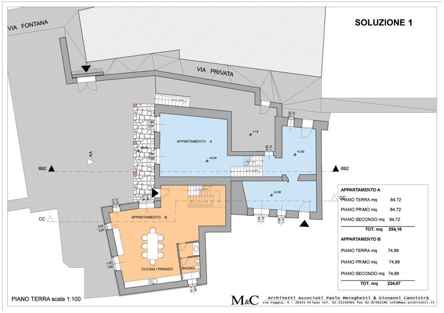 Progetto costruzione edificio plurifamiliare in centro for Idee piano terra