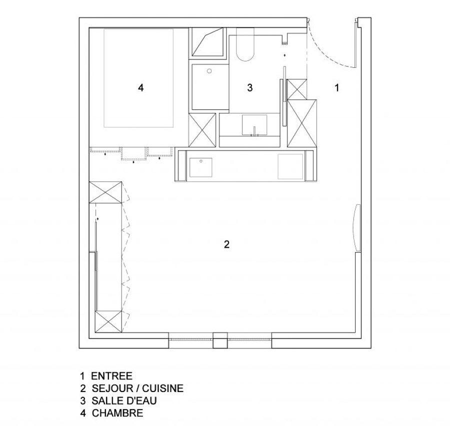 Pianta appartamento ristrutturato