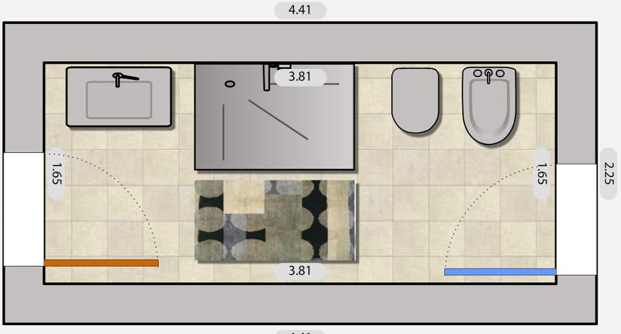 Progetto demolizione e rifacimento del bagno idee - Pianta bagno ...