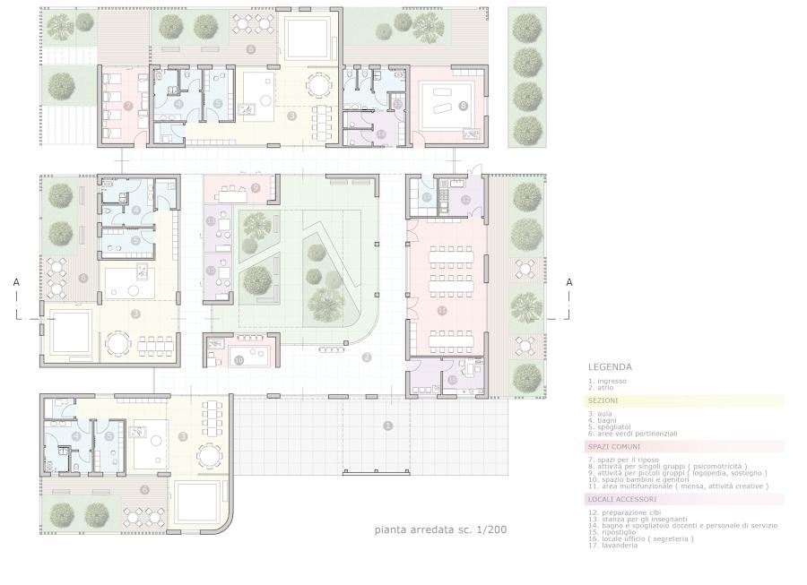 Progetto per concorso d 39 idee per la realizzazione di una for Arredo scuola materna