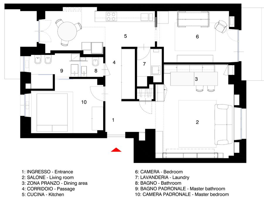 Progetto casa 100 mq un piano progetti di case con for Due box auto con costo dell appartamento
