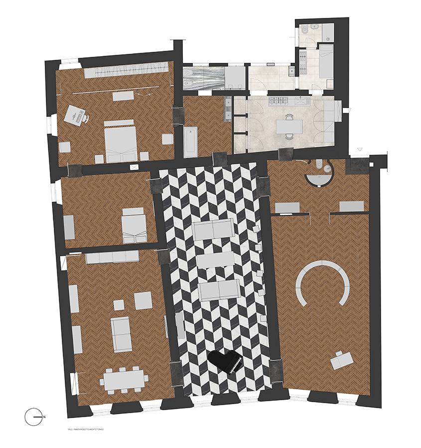 Pianta dell'intero appartamento