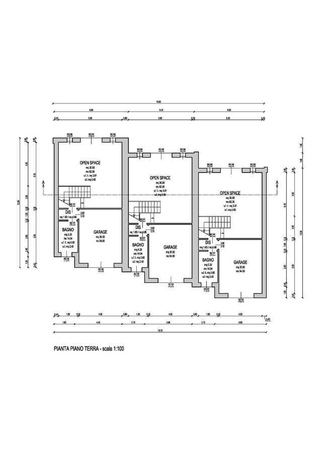 Progetto per la costruzione di una abitazione trifamiliare for Idee del piano di progetto