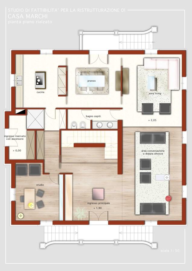 Progetto di ristrutturazione casa m carpi idee architetti for Idee del piano di progetto