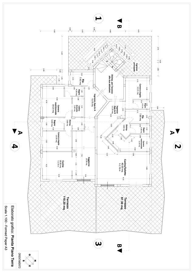 Progetto per la realizzazione di un fabbricato per civile for Idee piano terra