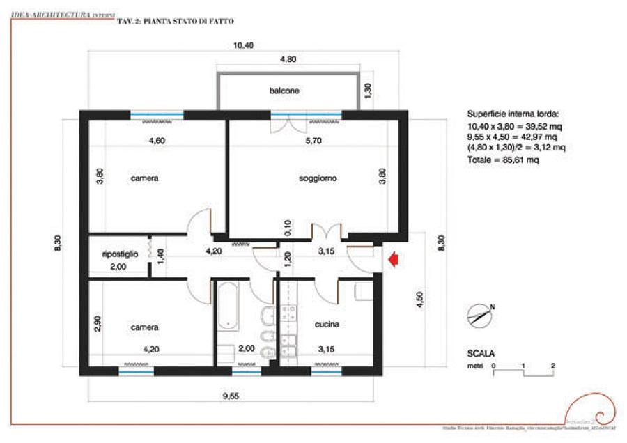 Foto pianta stato di fatto di architectura 21 studio for Disegna i progetti online gratuitamente