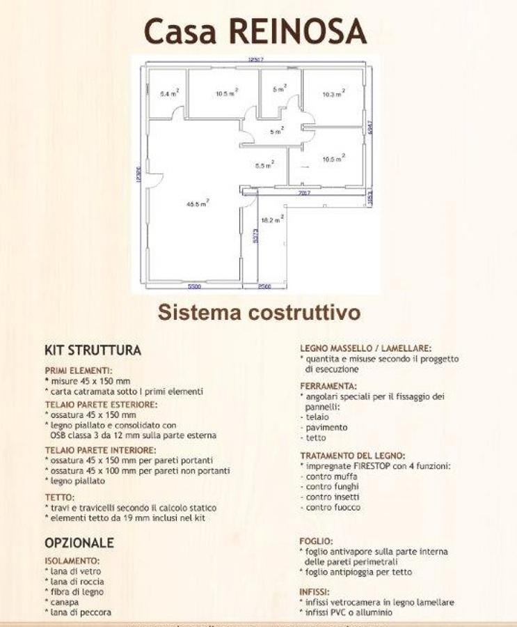 "Piantina della "" Casa Reinosa """