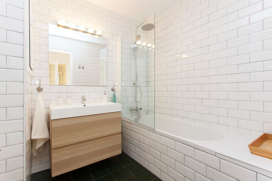Piastrelle bianche per bagno