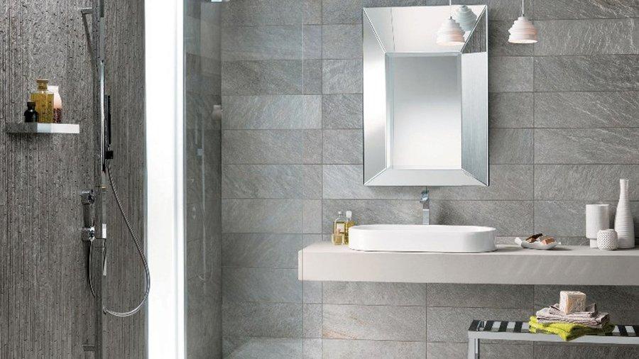 Foto piastrelle gres porcellanato bagno grigio di marilisa dones 377627 habitissimo - Bagno arredamento piastrelle ...