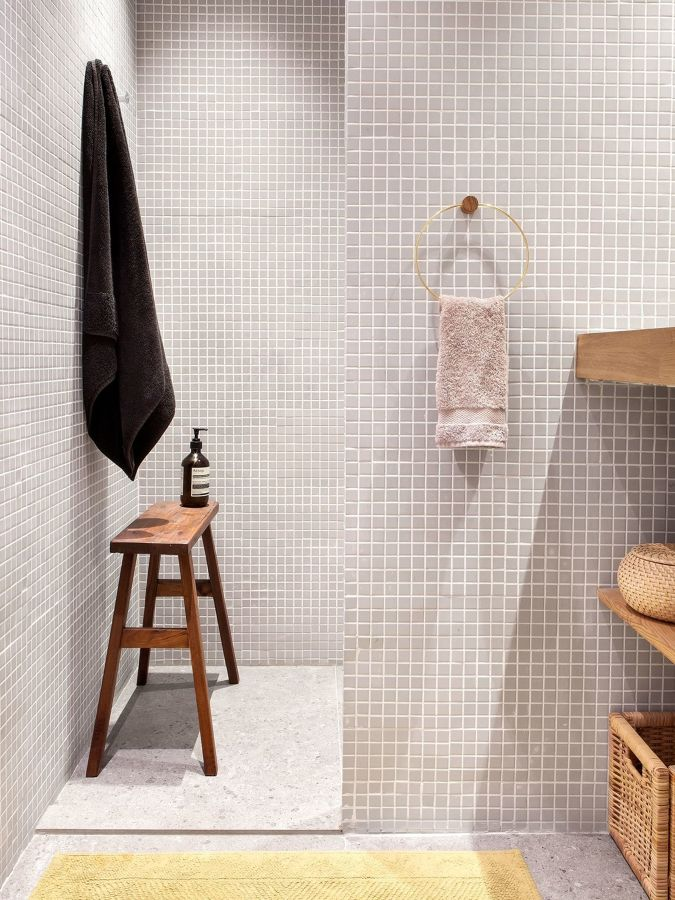 Piastrelle mosaico effetto cemento