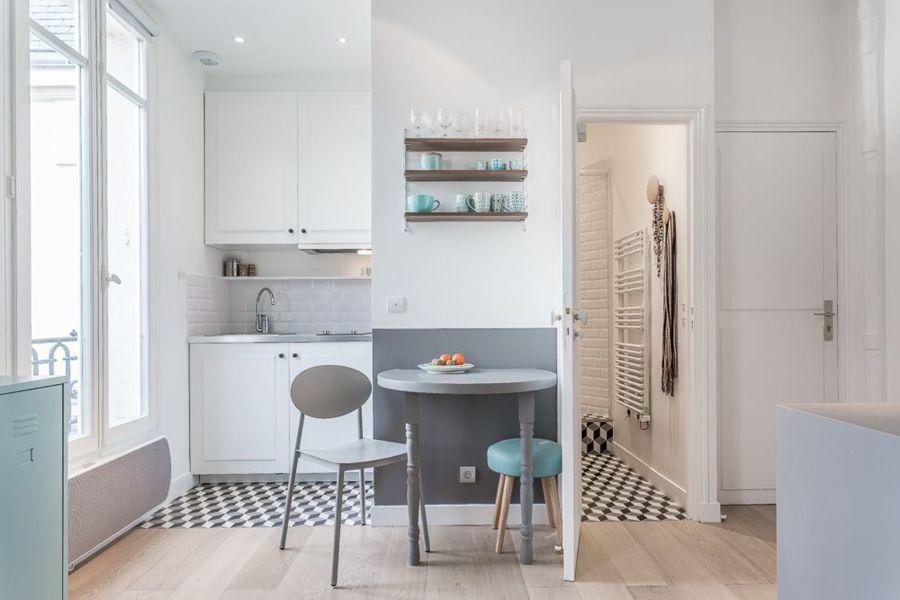 casa piccola, soluzioni piccole | idee ristrutturazione casa - Soggiorno Piccolo Con Angolo Cottura