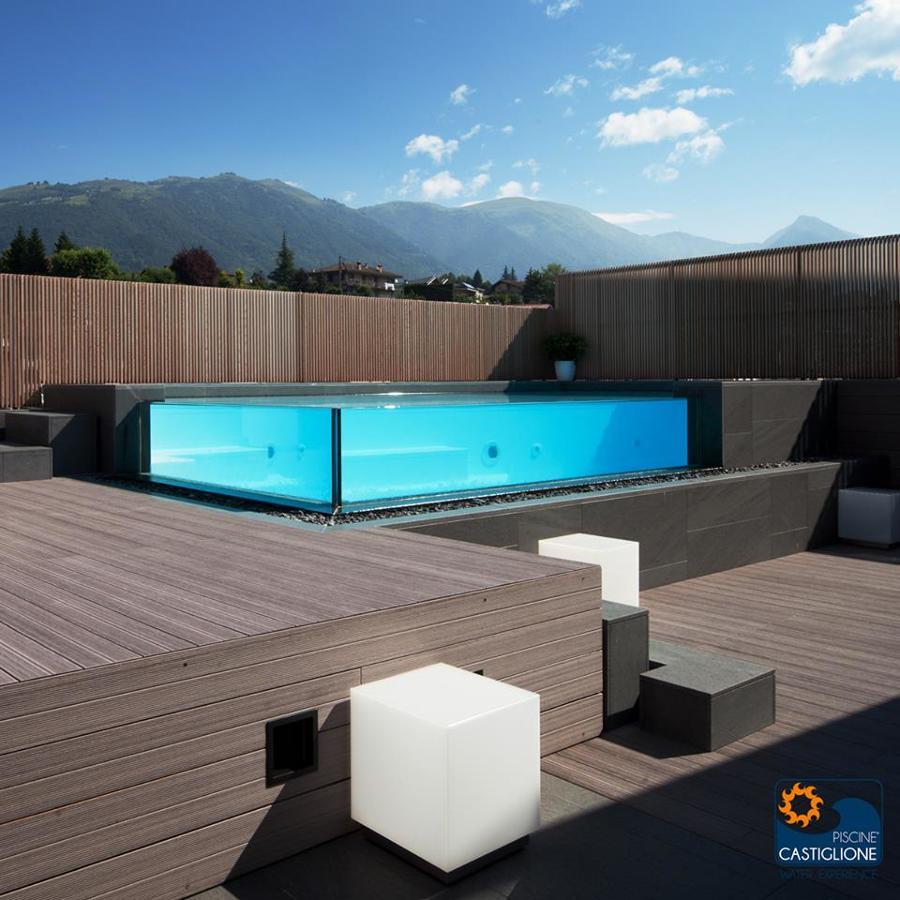 Piscina con vetro idee costruzione piscine - Piscina in vetro ...