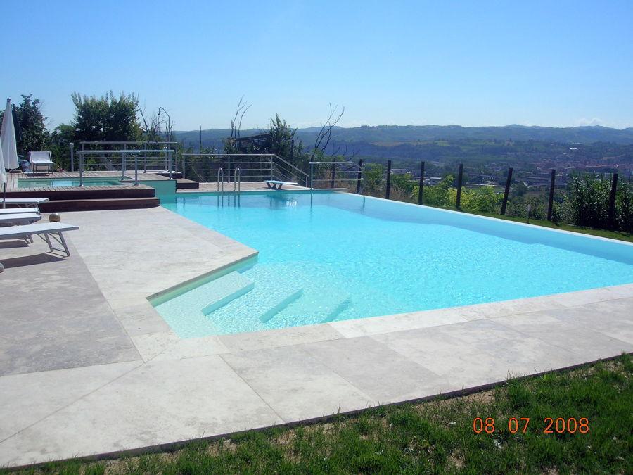 Progetto costruzione piscina a sfioro progetti - Costruzione piscina in cemento armato ...