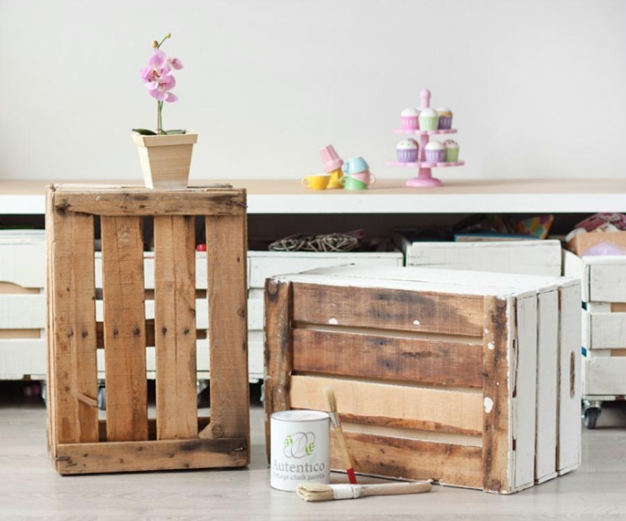 Foto pitturare cassette in legno diy de valeria del - Pitturare legno senza carteggiare ...