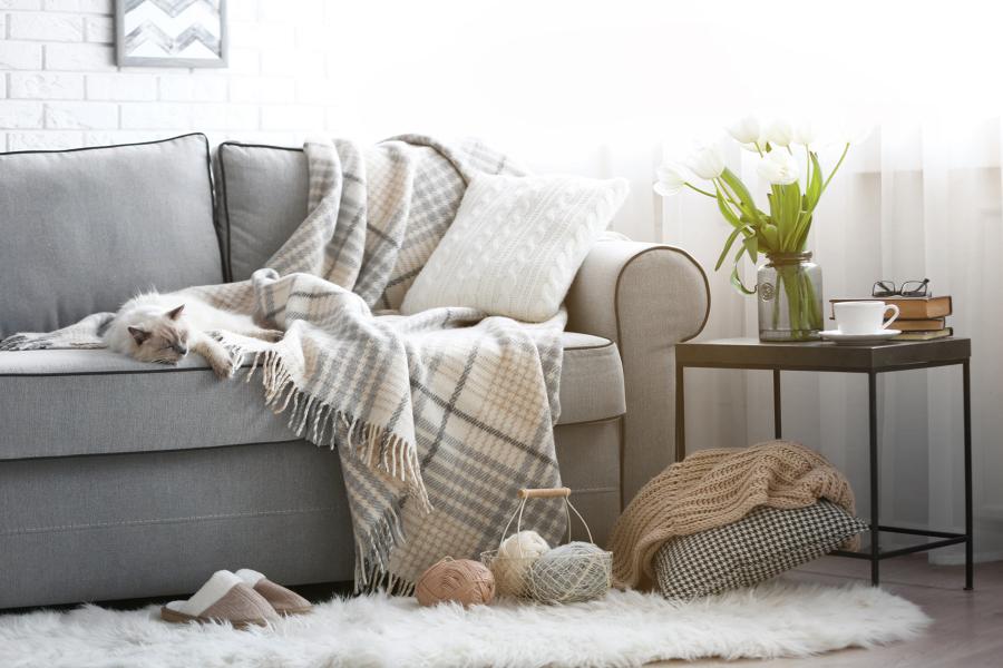 plaid e coperte in lana