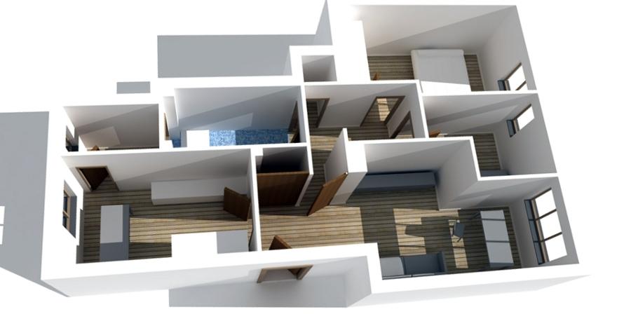 Foto planimetria 3d di studiogdr arch giacomo di rienzo for Planimetria appartamento