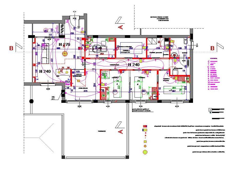 Foto planimetria impianto elettrico di ma2studio for Planimetrie di layout di casa