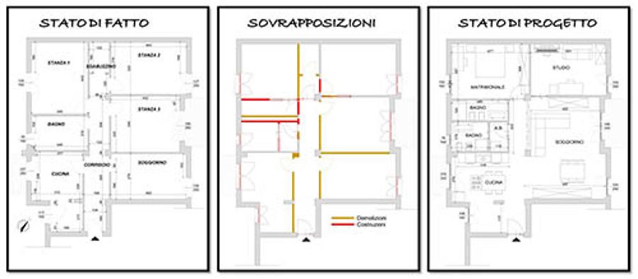 Foto planimetria progetto prima e dopo internvento di for Idee planimetria casa
