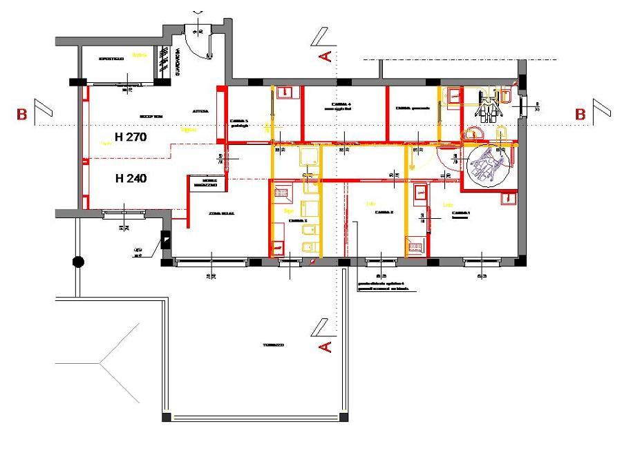 Foto planimetria stato comparativo tra lo stato esistente for Progettazione di architettura online