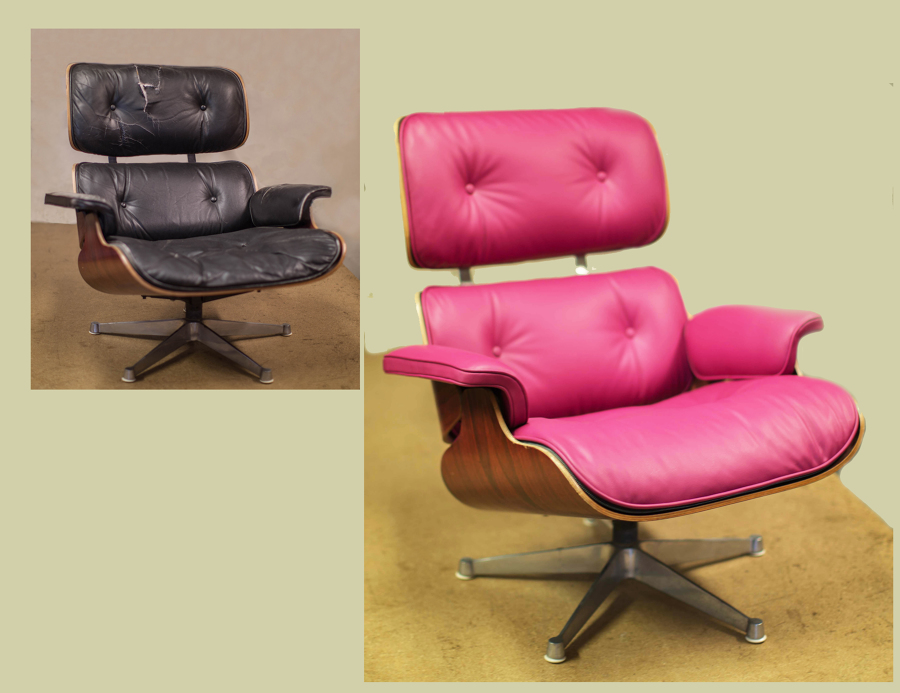 Poltrona Charles Eames Prezzo.Riparazione Poltrona In Pelle Lounge Chair By Charles Eames Idee
