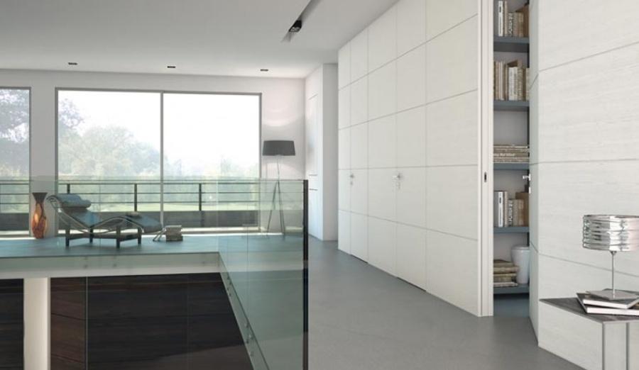 Filomuro soluzioni per separare ambienti idee pavimenti continui - Porte a tutta altezza scorrevoli ...